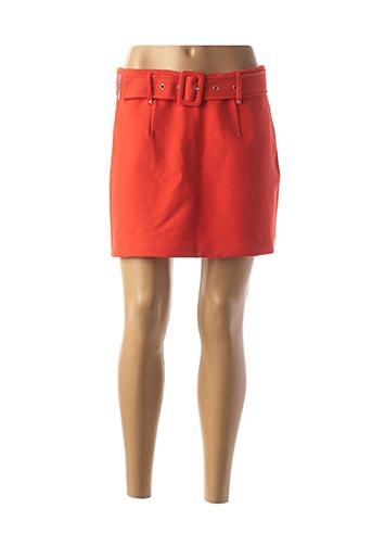 Jupe short orange MORGAN pour femme