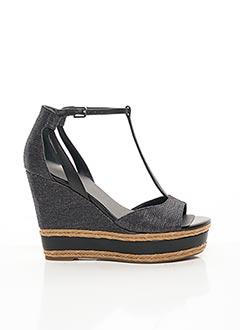Sandales/Nu pieds noir GUESS pour femme