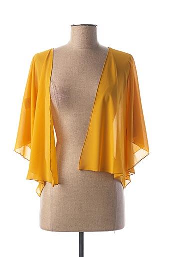Veste casual jaune DANIELA COOL pour femme