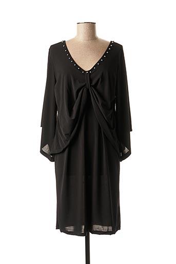 Robe mi-longue noir DANIELA COOL pour femme