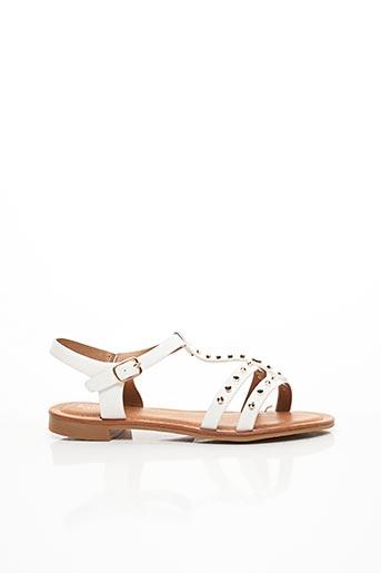 Sandales/Nu pieds blanc CHICMUSE pour femme