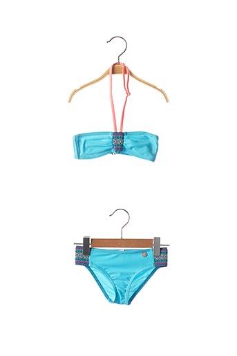 Maillot de bain 2 pièces bleu O'SALEE pour fille