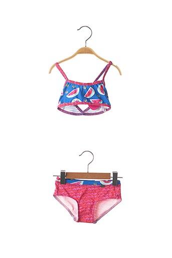 Maillot de bain 2 pièces rose PLAGE DU SUD pour fille