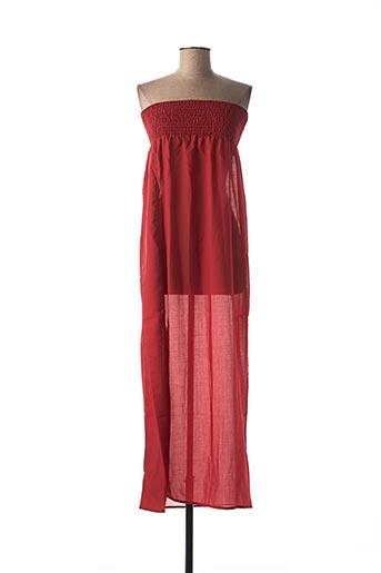 Robe longue rouge IODUS pour femme