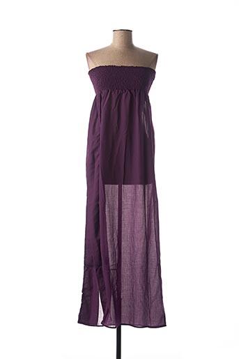 Robe longue violet IODUS pour femme