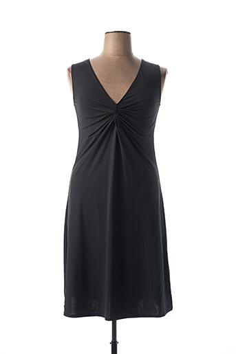 Robe mi-longue noir DAVID pour femme