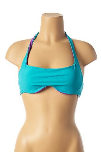 Haut de maillot de bain bleu IMEC pour femme
