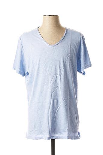 T-shirt manches courtes bleu KIWI pour homme