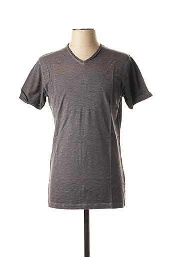 T-shirt manches courtes gris KIWI pour homme