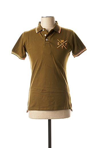 Polo manches courtes vert WATTS pour homme