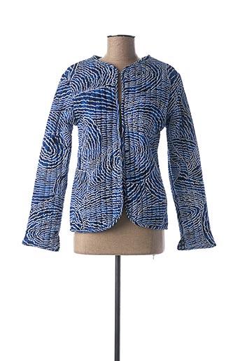 Veste casual bleu BAKKER pour femme