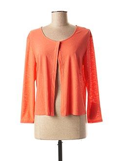 Gilet manches longues orange ANNE KELLY pour femme