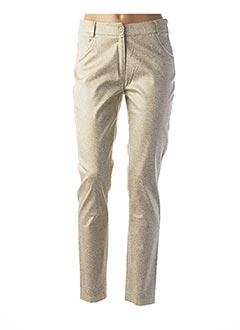 Pantalon casual vert ANNE KELLY pour femme