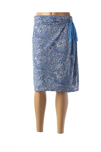 Jupe mi-longue bleu DANEVA pour femme