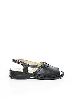 Sandales/Nu pieds noir FARGEOT pour femme