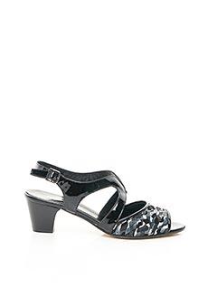 Sandales/Nu pieds noir ALEXANDRIA pour femme
