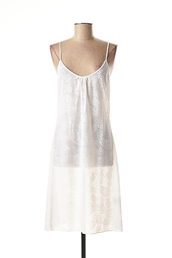 Robe mi-longue blanc LE PETIT BAIGNEUR pour femme