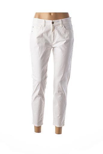 Pantalon 7/8 blanc DESGASTE pour femme