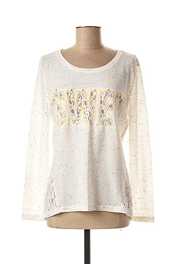T-shirt manches longues blanc MINI MIGNON pour fille