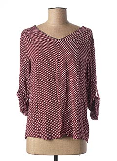 Blouse manches longues rouge BY ONE pour femme