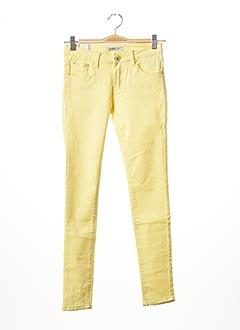 Pantalon casual jaune EVIDENI pour femme