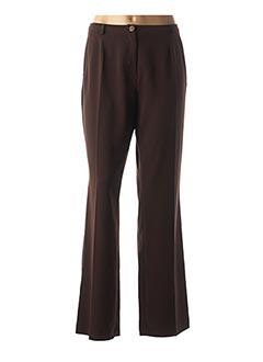 Pantalon chic marron GREY GORY pour femme