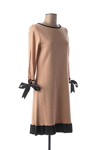 Robe mi-longue beige CRISTINA EFFE pour femme