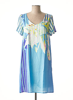 Robe courte bleu LA FIANCEE DU MEKONG pour femme