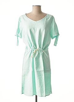 Robe mi-longue vert C'EST BEAU LA VIE pour femme