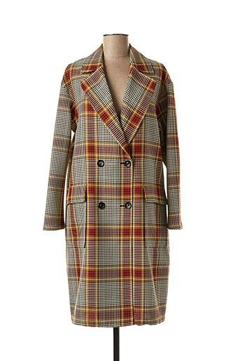Manteau long rouge DIEGA pour femme