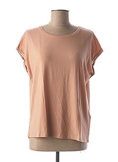 T-shirt manches courtes beige AWARE BY VERO MODA pour femme