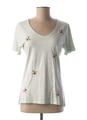 T-shirt manches courtes vert COCCARA pour femme