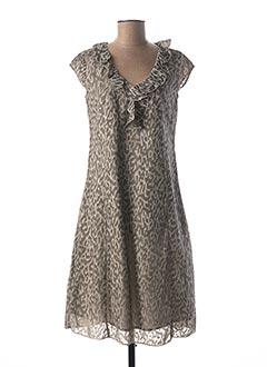 Robe mi-longue gris FIGURE LIBRE pour femme