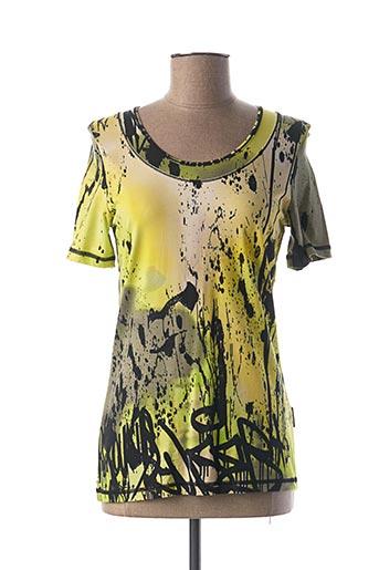 T-shirt manches courtes jaune CAPUCCINO pour femme