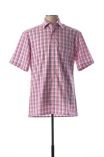 Chemise manches courtes rose MARVELIS pour homme