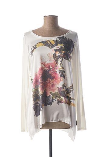 T-shirt manches longues blanc CAPUCCINO pour femme