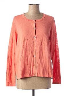 Gilet manches longues orange NICE THINGS pour femme