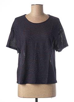 T-shirt manches courtes bleu NICE THINGS pour femme