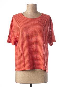T-shirt manches courtes orange NICE THINGS pour femme