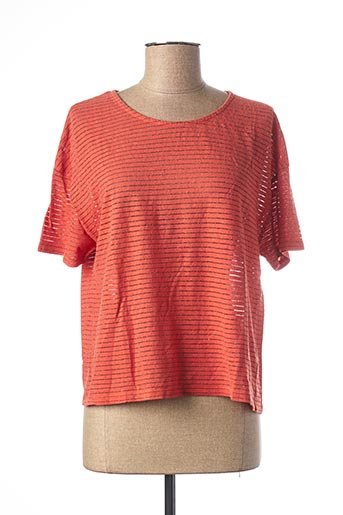 T-shirt manches courtes orange NICE THINGS pour femme