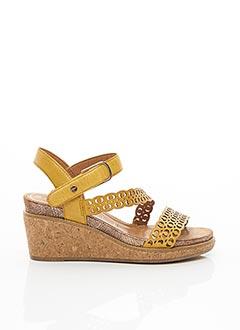 Sandales/Nu pieds jaune TAMARIS pour femme