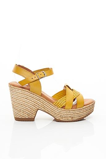 Sandales/Nu pieds jaune EVA FRUTOS pour femme
