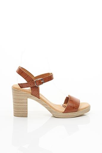 Sandales/Nu pieds marron EVA FRUTOS pour femme