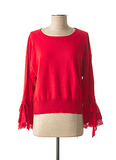 Pull col rond rouge ERMANNO SCERVINO pour femme