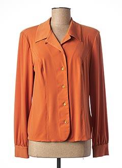 Chemisier manches longues orange FRANCOISE F pour femme