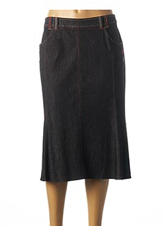 Jupe mi-longue noir FRANCOISE F pour femme