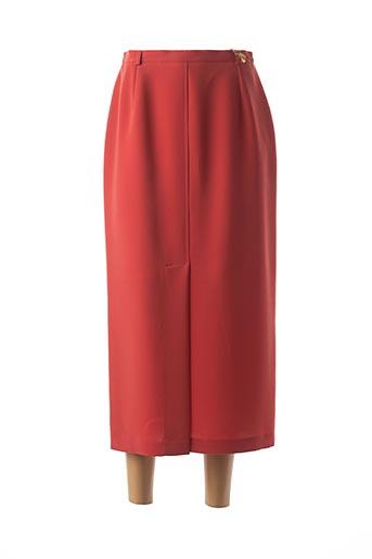 Jupe longue rouge FEDORA pour femme