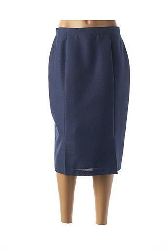 Jupe mi-longue bleu ALMINA pour femme