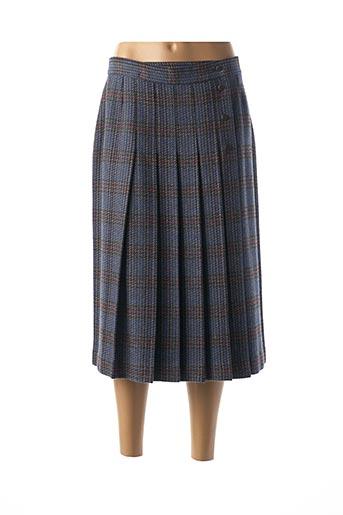 Jupe mi-longue bleu CASTILLE pour femme