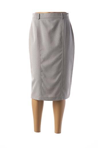 Jupe mi-longue gris FEDORA pour femme